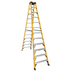 DEWALT - 12 ft Fiberglass Twin Front Step Ladder - DXL3030-12
