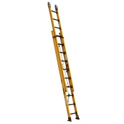DEWALT - 20 Fiberglass Extension Ladder 375 Lbs Load Capacity - DXL3420-20PG