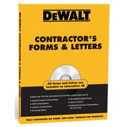 DEWALT - Contractor Forms and Letters - DXRG52832