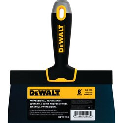 DEWALT - Blue Steel Drywall Taping Knife with Soft Grip Handle - DXTT-2-124