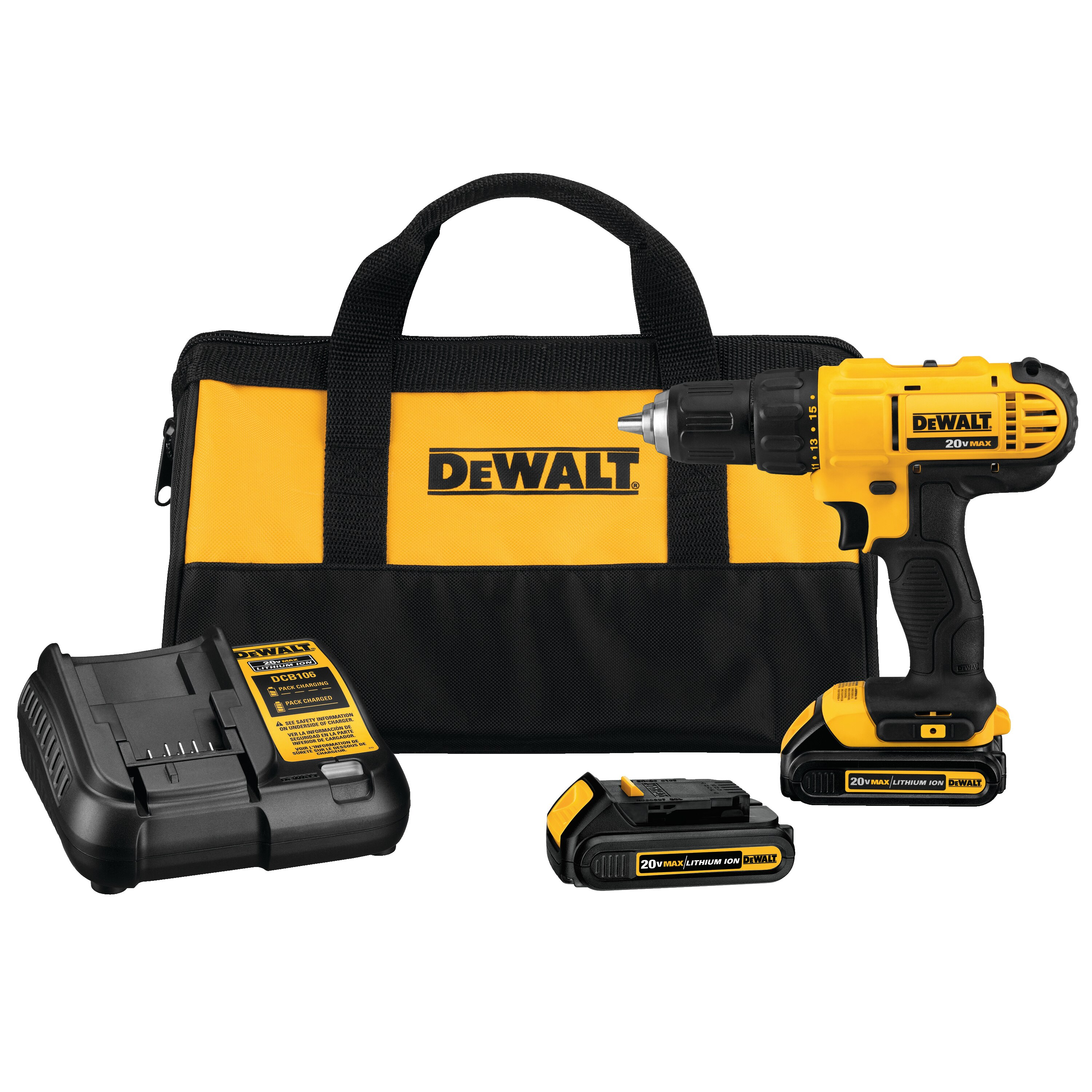 20V MAX* Lithium Ion Compact Drill/Driver Kit