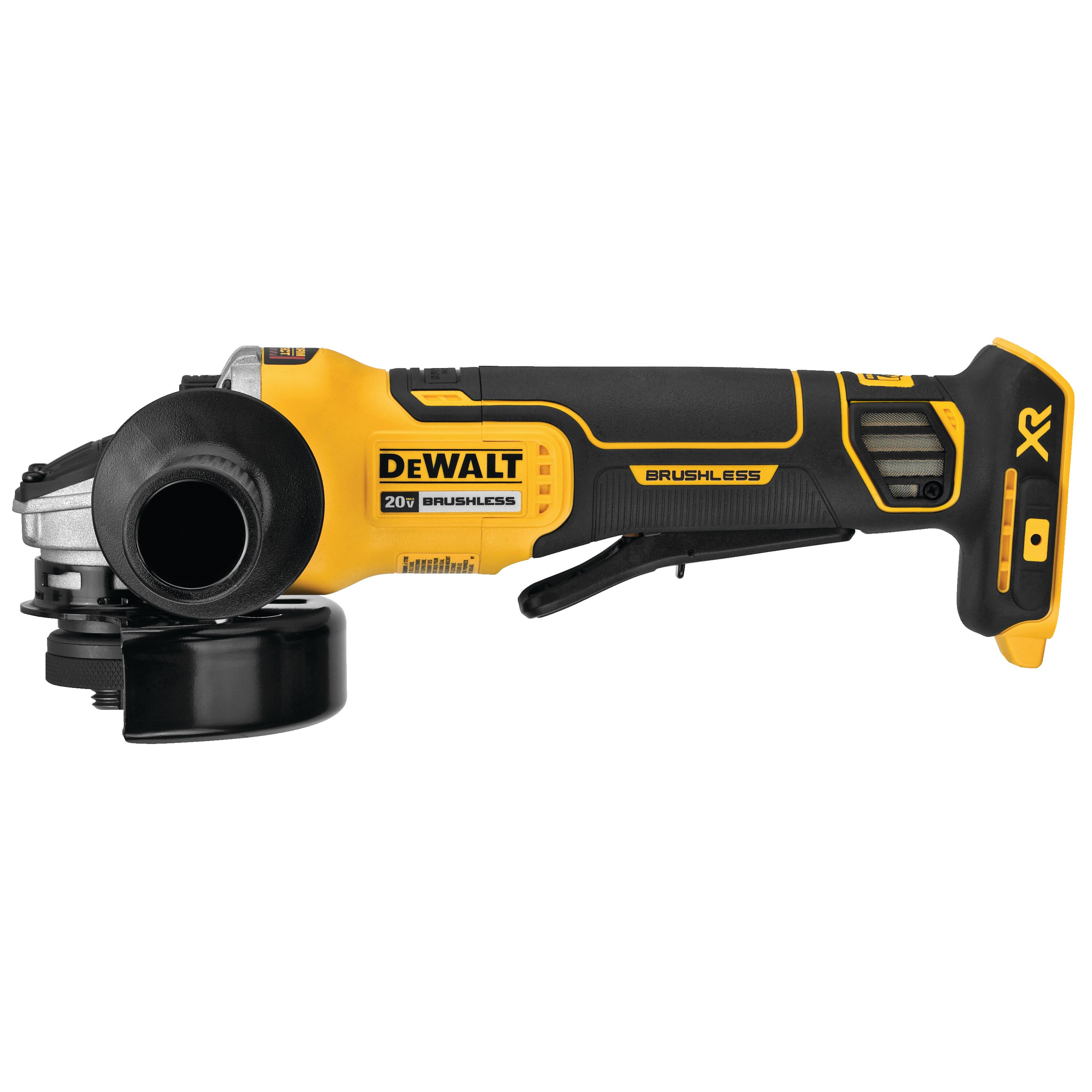 20V MAX* XR® 4 5 in  Paddle Switch Small Angle Grinder with Kickback Brake  (Tool Only)