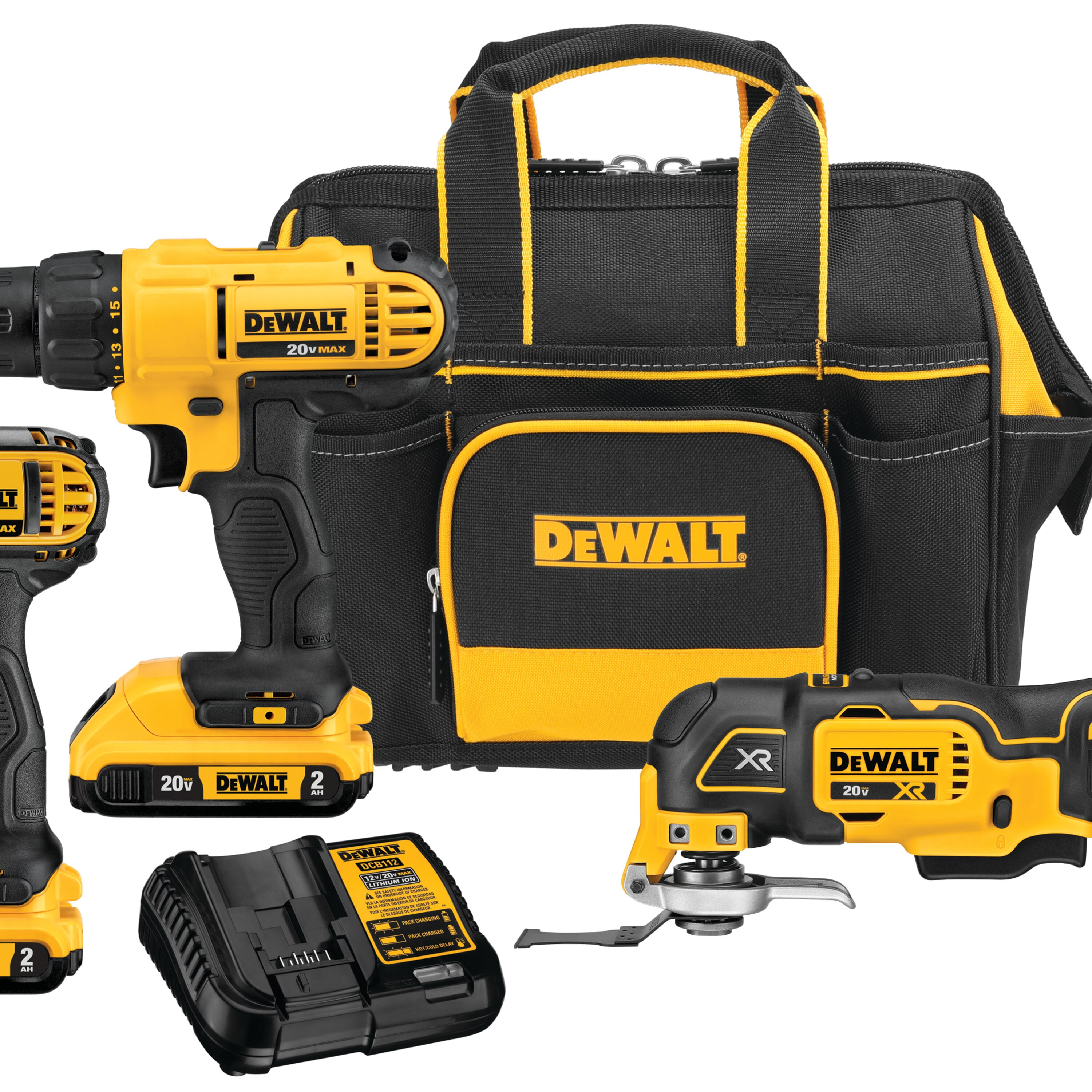 20v Max Cordless 3 Tool Combo Kit With Contractor Bag Dckss344d2 Dewalt