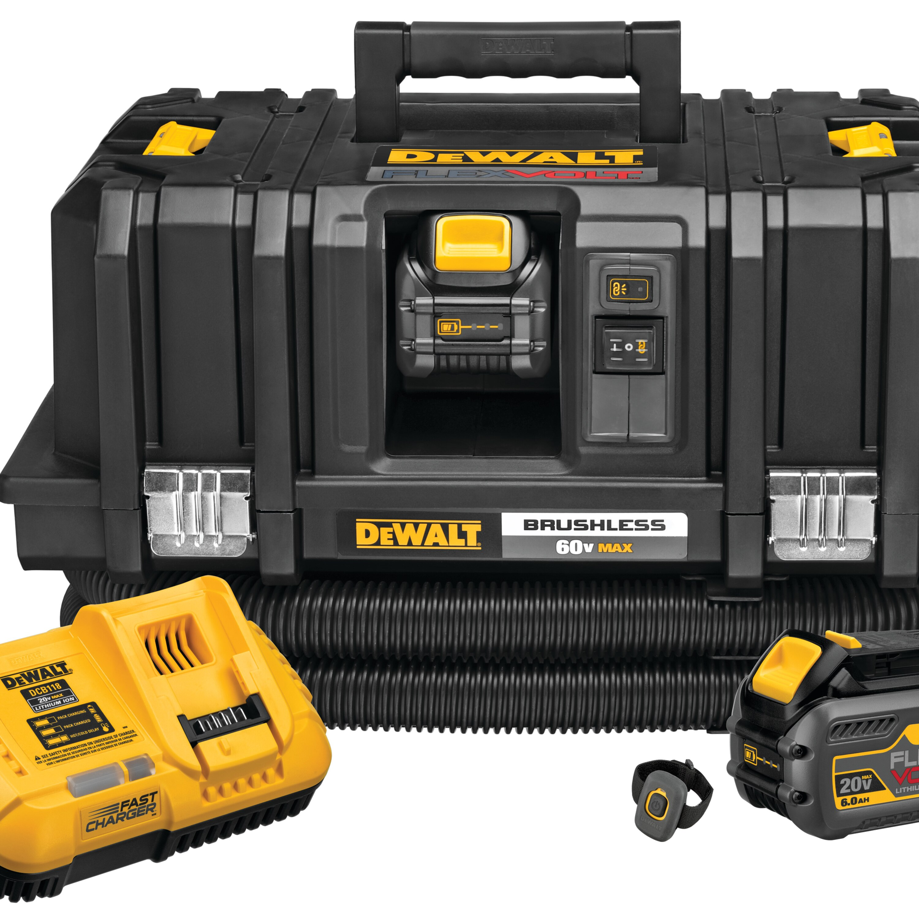 Dewalt Dust Extractor >> Flexvolt 60v Max Dust Extractor Kit