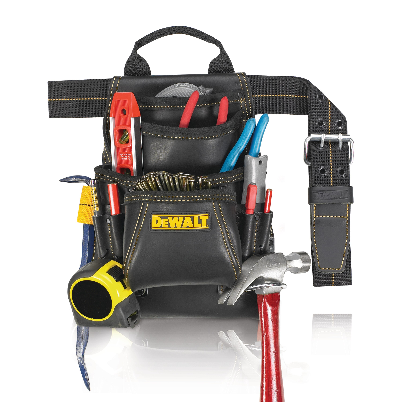 10 Pocket Contractors Nail /& Tool Pouch Bag