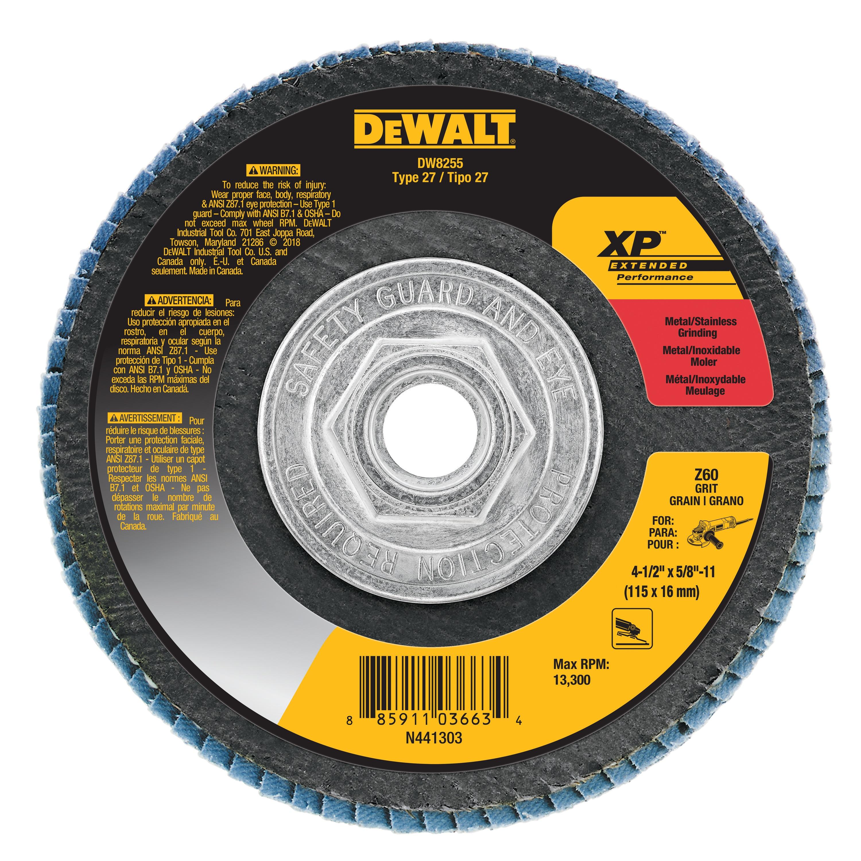 4 1 2 X 5 8 11 60g Xp Flap Disc Dw8255 Dewalt