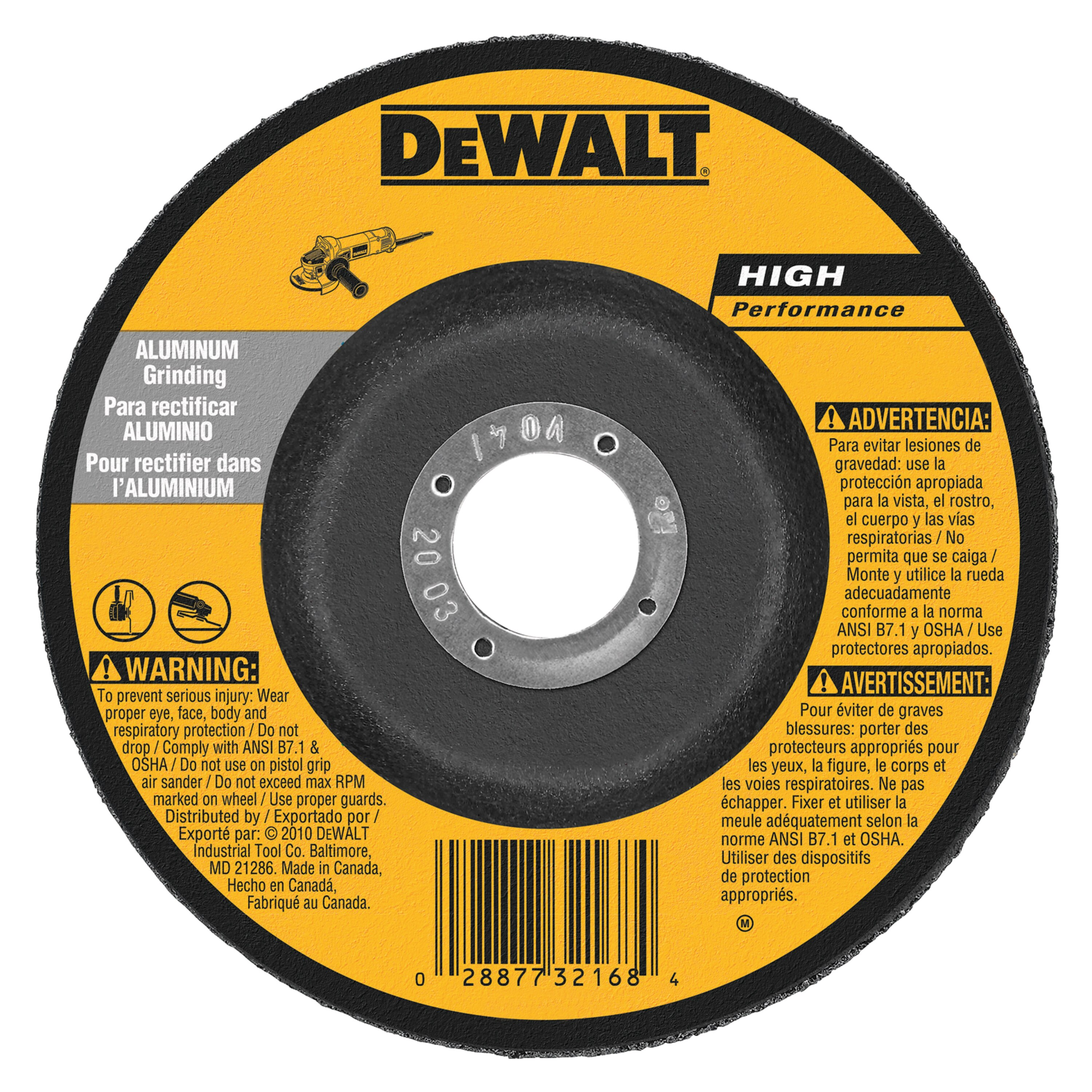 Hp Aluminum Grinding Wheels Type 27 Dewalt