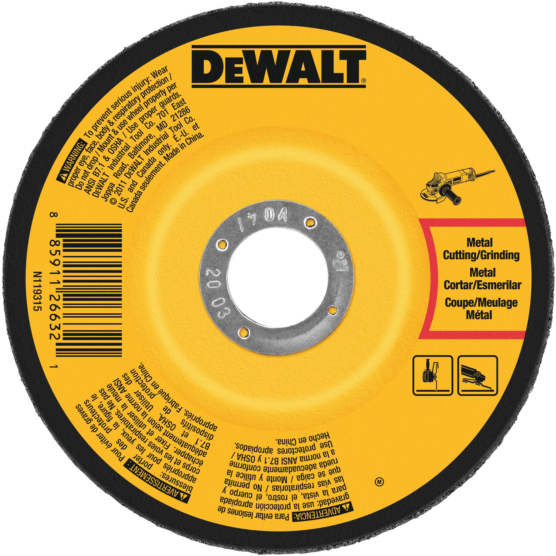 """DEWALT  6/"""" x 1//4/"""" x 7//8/"""" METAL GRINDING WHEELS A24R-BF ONE EACH"""