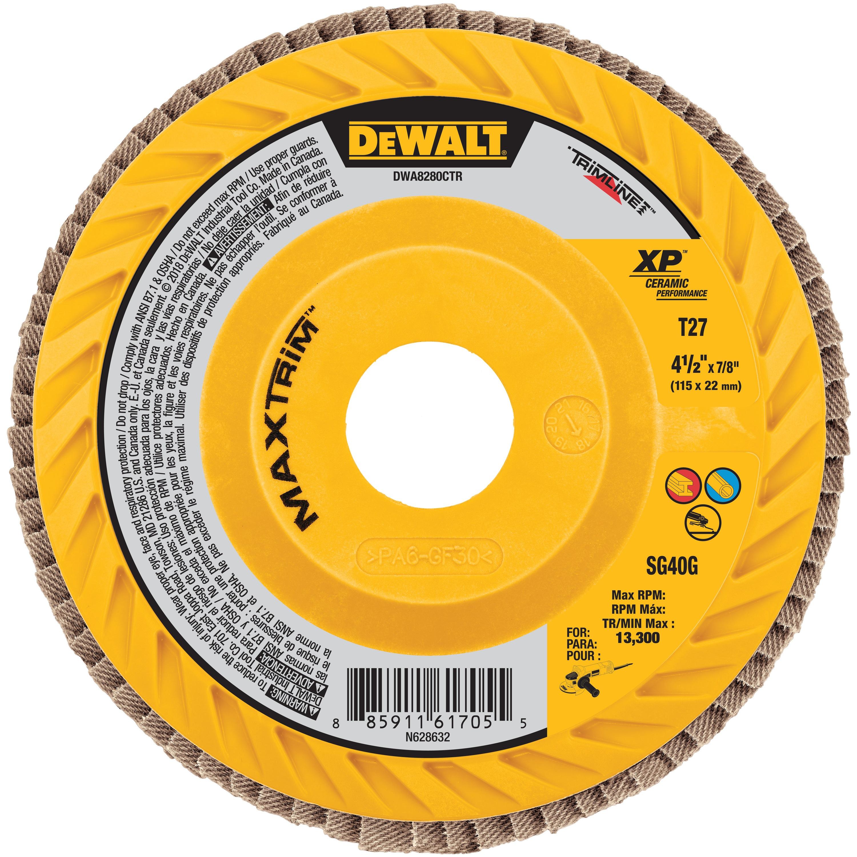 Xp Ceramic Maxtrim Trimmable Flap Disc Dewalt