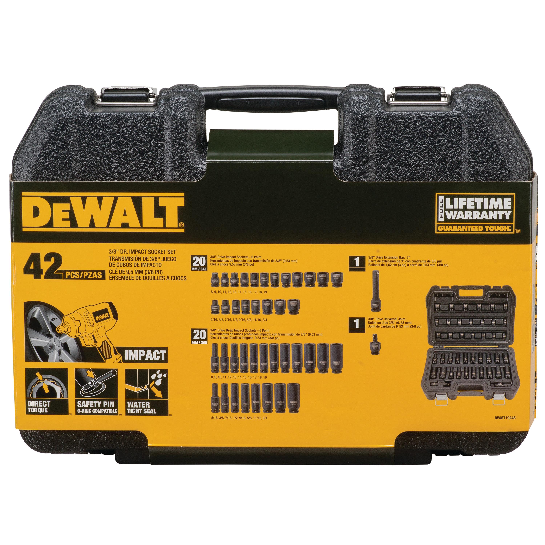 DEWALT 1//2 Drive Socket Deep Impact 6PT 1 5//8